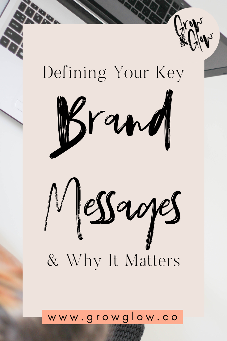 brand message pinterest graphic