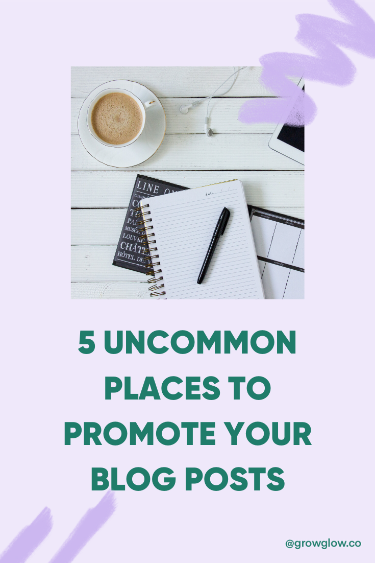uncommon places to promote blog posts
