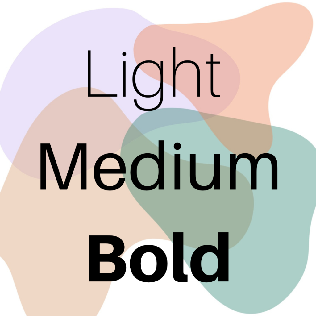 How to pick the perfect brand font: Light Vs Bold